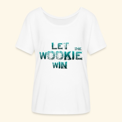 Let The Wookie Win, design 2. - Dame T-shirt med flagermusærmer fra Bella + Canvas