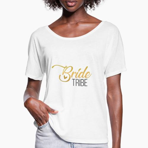 Bride Tribe - lettering for team bride - Women's Batwing-Sleeve T-Shirt by Bella + Canvas