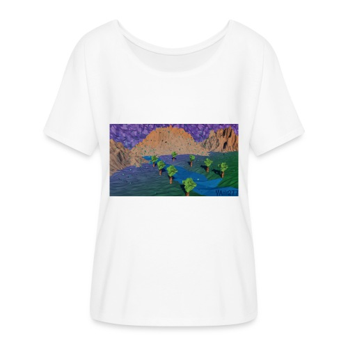 Silent river - Women's Batwing-Sleeve T-Shirt by Bella + Canvas
