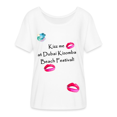 Perfect lips design black text variation 3 - Women's Batwing-Sleeve T-Shirt by Bella + Canvas