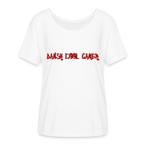 Dansk cool Gamer - Dame T-shirt med flagermusærmer fra Bella + Canvas