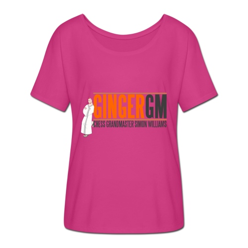 Ginger GM Logo - Women's Batwing-Sleeve T-Shirt by Bella + Canvas