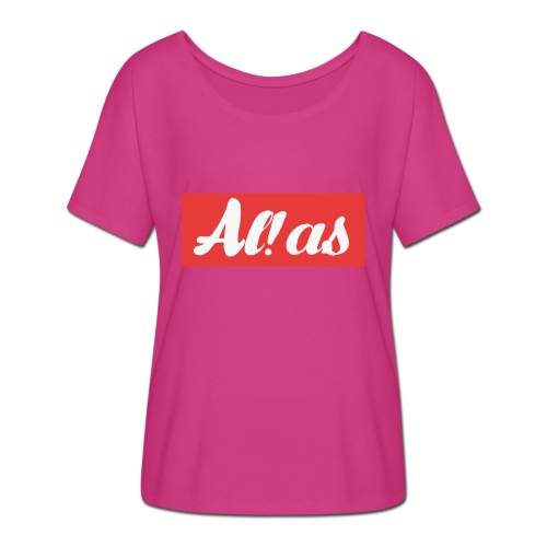 Al!as - Dame T-shirt med flagermusærmer fra Bella + Canvas