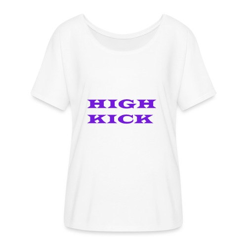 HIGH KICK HOODIE [LIMITED EDITION] - Women's Batwing-Sleeve T-Shirt by Bella + Canvas