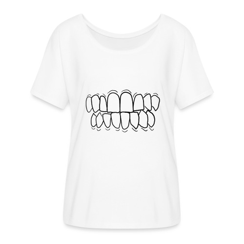 TEETH! - Women's Batwing-Sleeve T-Shirt by Bella + Canvas