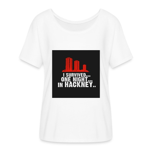 i survived one night in hackney badge - Women's Batwing-Sleeve T-Shirt by Bella + Canvas