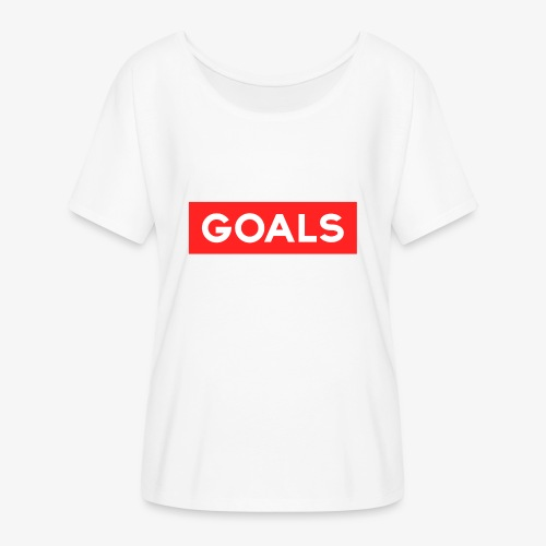 GOALS SQUARE BOX - Women's Batwing-Sleeve T-Shirt by Bella + Canvas