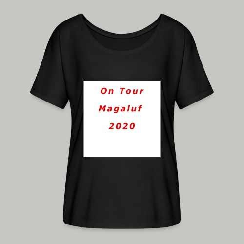 On Tour In Magaluf, 2020 - Printed T Shirt - Women's Batwing-Sleeve T-Shirt by Bella + Canvas