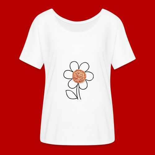 Pizzaflower Edition - Frauen T-Shirt mit Fledermausärmeln von Bella + Canvas