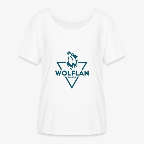 WolfLAN Logo Gray/Blue - Women's Batwing-Sleeve T-Shirt by Bella + Canvas