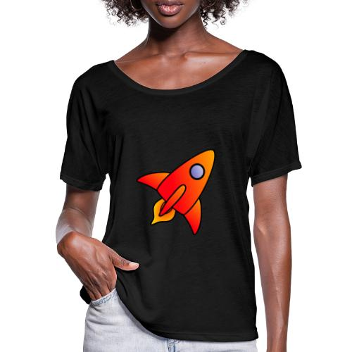 Red Rocket - Women's Batwing-Sleeve T-Shirt by Bella + Canvas