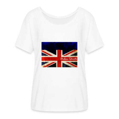Brittish Flag - T-shirt med fladdermusärmar dam från Bella + Canvas