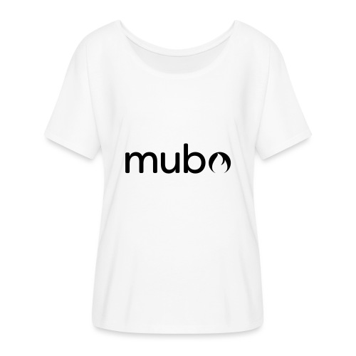mubo Logo Word Black - Women's Batwing-Sleeve T-Shirt by Bella + Canvas