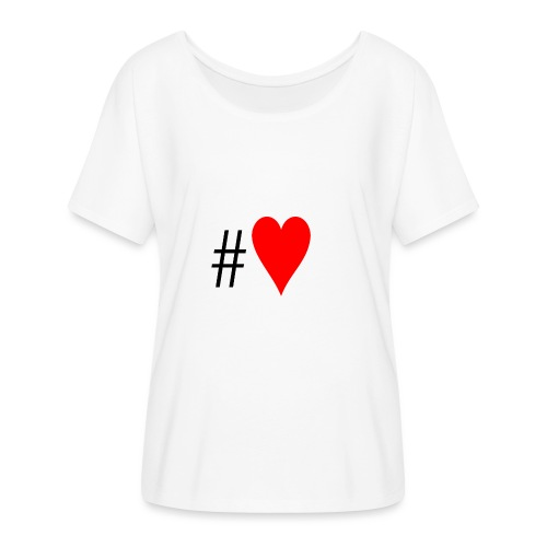 Hashtag Heart - Women's Batwing-Sleeve T-Shirt by Bella + Canvas