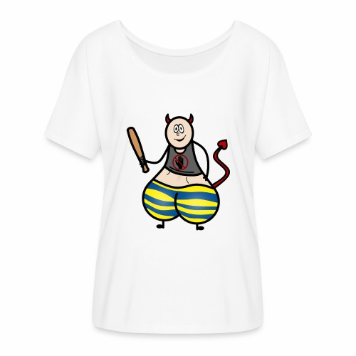Devil No Touchies Charlie - Women's Batwing-Sleeve T-Shirt by Bella + Canvas