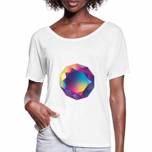 Diamond geometric illustration - Women's Batwing-Sleeve T-Shirt by Bella + Canvas
