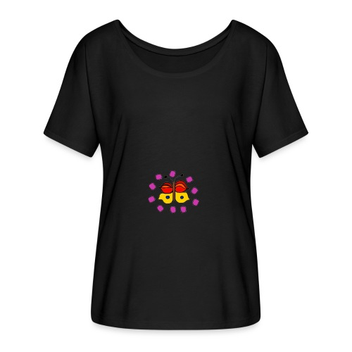 Butterfly colorful - Women's Batwing-Sleeve T-Shirt by Bella + Canvas