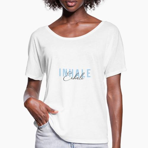 Inhale Exhale - Women's Batwing-Sleeve T-Shirt by Bella + Canvas