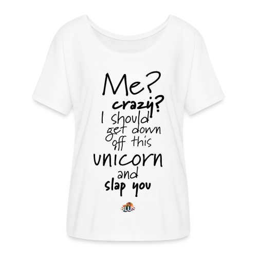 Crazy Unicorn Style (Dark) - Women's Batwing-Sleeve T-Shirt by Bella + Canvas