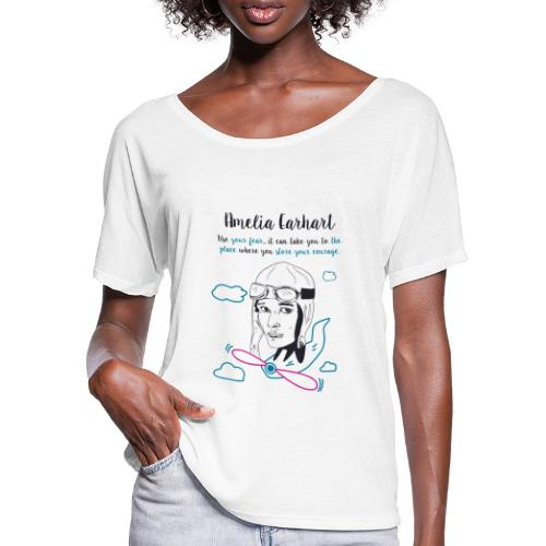 Amelia Earhart - Women's Batwing-Sleeve T-Shirt by Bella + Canvas