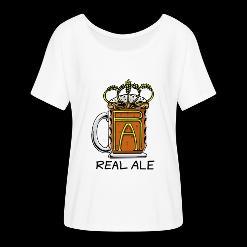 Real Ale - Women's Batwing-Sleeve T-Shirt by Bella + Canvas