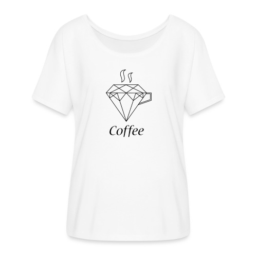 Coffee Diamant - Frauen T-Shirt mit Fledermausärmeln von Bella + Canvas