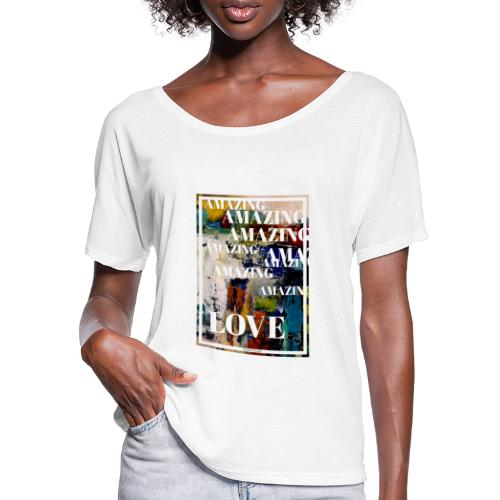 Amazing Love - T-shirt med fladdermusärmar dam från Bella + Canvas