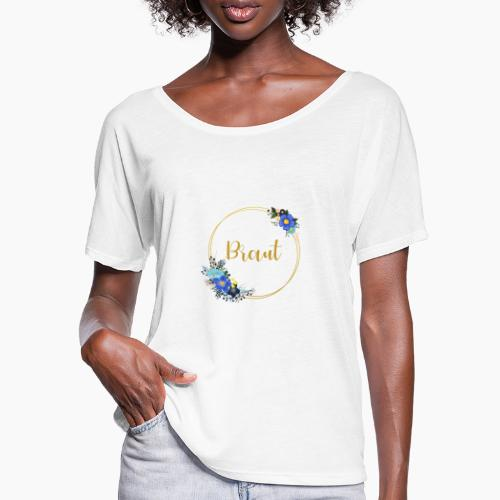 Braut - Aufschrift goldener Kranz für JGA Party - Women's Batwing-Sleeve T-Shirt by Bella + Canvas