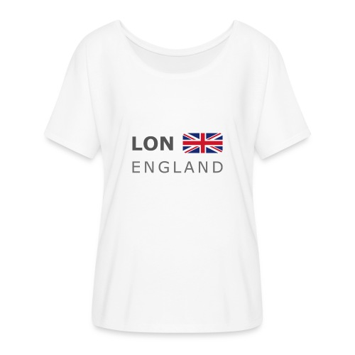LON ENGLAND BF dark-lettered 400 dpi - Women's Batwing-Sleeve T-Shirt by Bella + Canvas