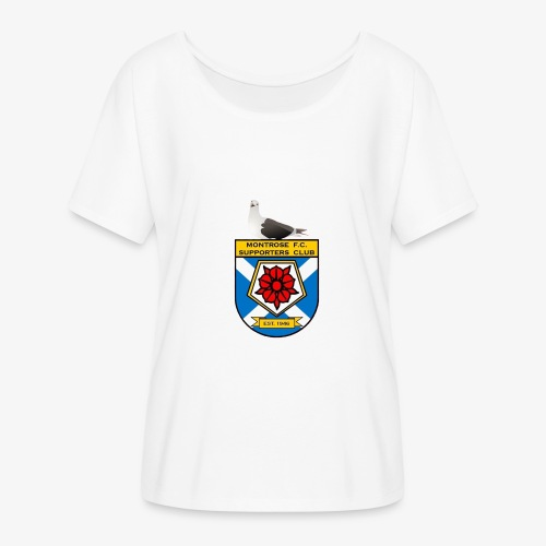 Montrose FC Supporters Club Seagull - Women's Batwing-Sleeve T-Shirt by Bella + Canvas