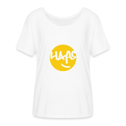 HAPS Yellow Logo - Women's Batwing-Sleeve T-Shirt by Bella + Canvas