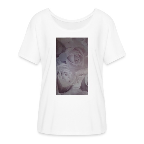 perfect pink rose's - Women's Batwing-Sleeve T-Shirt by Bella + Canvas