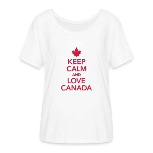 keep calm and love Canada Maple Leaf Kanada - Women's Batwing-Sleeve T-Shirt by Bella + Canvas