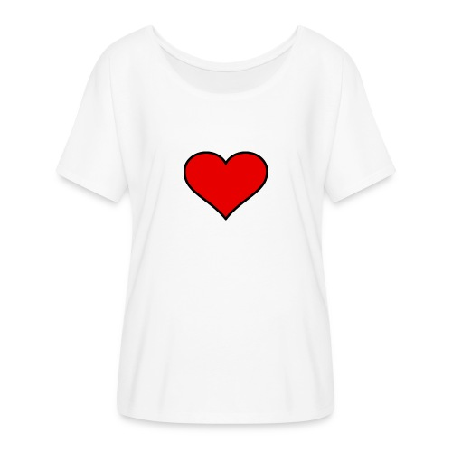 big heart clipart 3 - T-shirt med fladdermusärmar dam från Bella + Canvas
