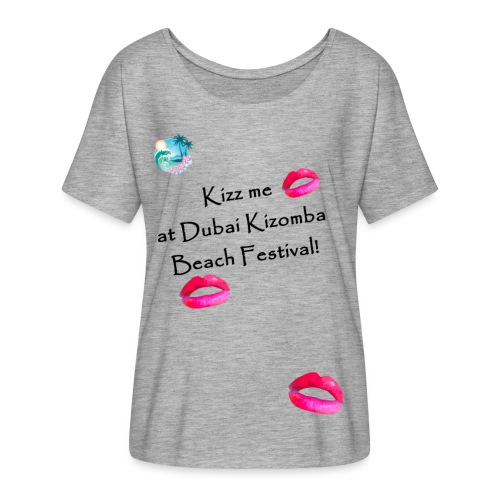 Perfect lips design black text variation 4 - Women's Batwing-Sleeve T-Shirt by Bella + Canvas
