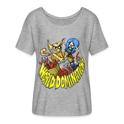 WORLD DOMINATION - Women's Batwing-Sleeve T-Shirt by Bella + Canvas