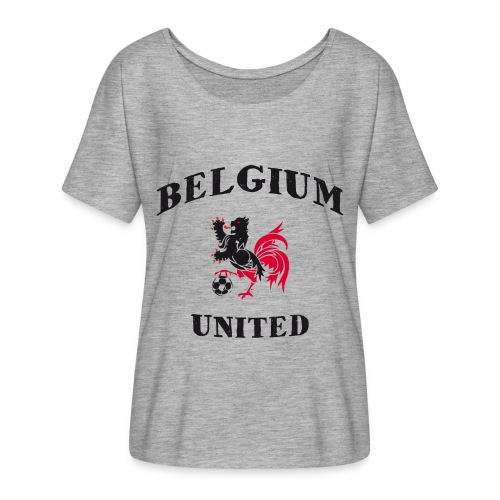 Belgium Unit - Women's Batwing-Sleeve T-Shirt by Bella + Canvas