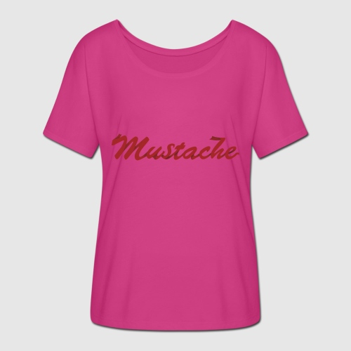 Red Mustache Lettering - Women's Batwing-Sleeve T-Shirt by Bella + Canvas