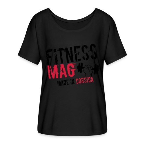 Fitness Mag made in corsica 100% Polyester - T-shirt manches chauve-souris Femme Bella + Canvas