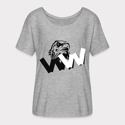 White and Black W with eagle - Women's Batwing-Sleeve T-Shirt by Bella + Canvas