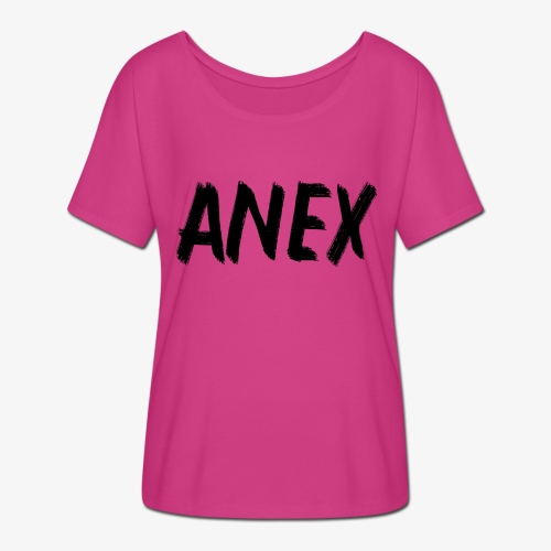 V-neck T-Shirt Anex black logo - Women's Batwing-Sleeve T-Shirt by Bella + Canvas