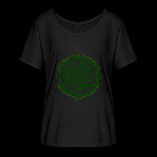 Green Celtic Triknot - Women's Batwing-Sleeve T-Shirt by Bella + Canvas