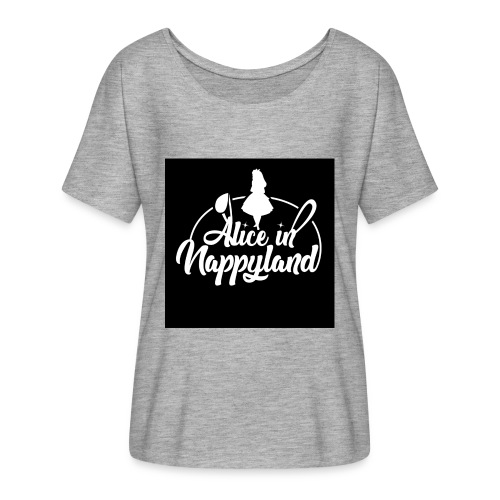 Alice in Nappyland TypographyWhite 1080 - Women's Batwing-Sleeve T-Shirt by Bella + Canvas