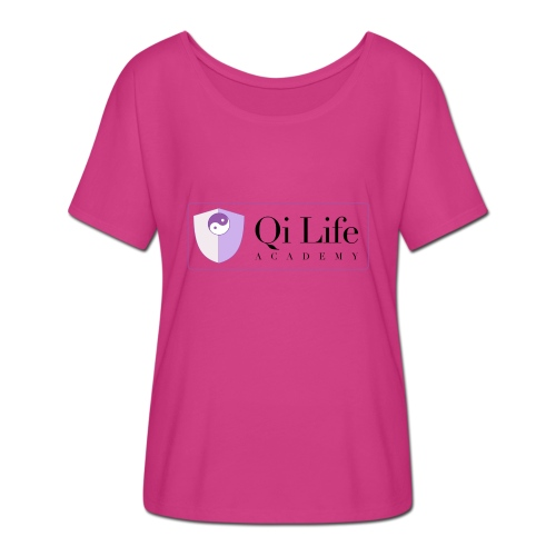 Qi Life Academy Promo Gear - Women's Batwing-Sleeve T-Shirt by Bella + Canvas