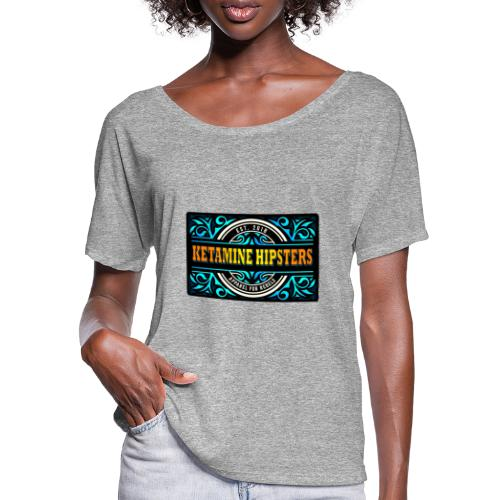 Black Vintage - KETAMINE HIPSTERS Apparel - Women's Batwing-Sleeve T-Shirt by Bella + Canvas