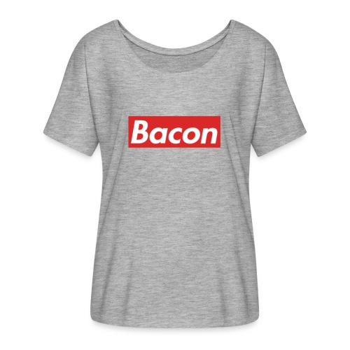 Bacon - T-shirt med fladdermusärmar dam från Bella + Canvas