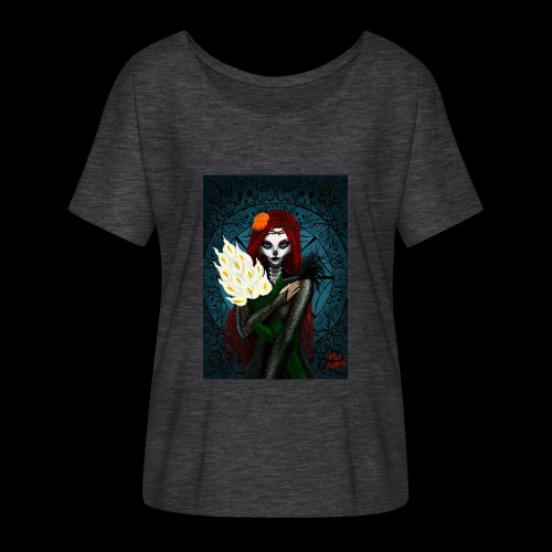 Death and lillies - Flowy Women's T-Shirt by Bella + Canvas
