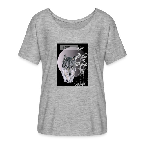 Re wild britain tee shirt - Women's Batwing-Sleeve T-Shirt by Bella + Canvas