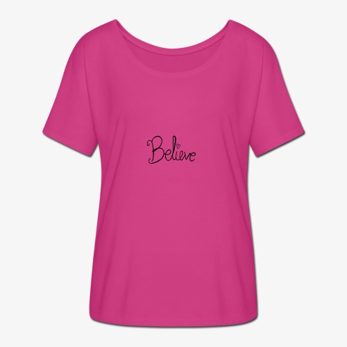Believe - Dame T-shirt med flagermusærmer fra Bella + Canvas