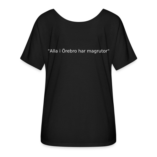 Ju jutsu förslag 2 version 1 vit text - T-shirt med fladdermusärmar dam från Bella + Canvas